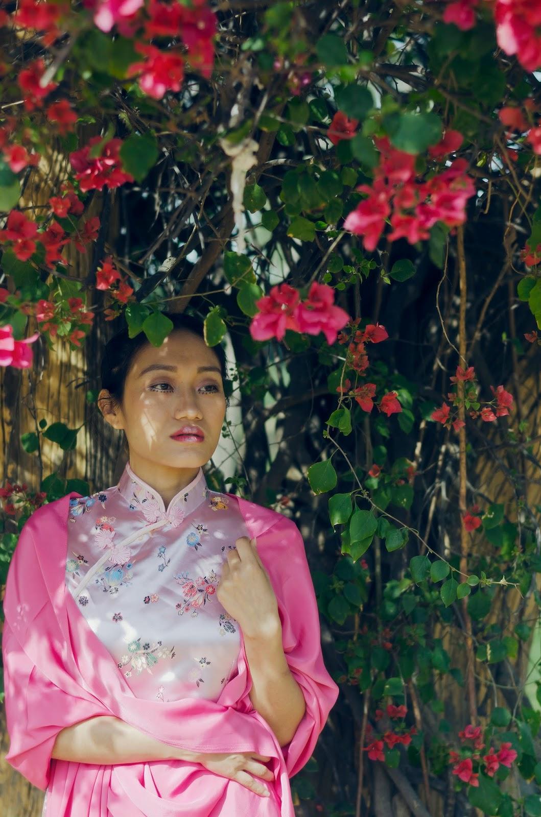 March, Spring, SS15, Flowers, Chinese Dress, Qipao Cheongsam, Silk