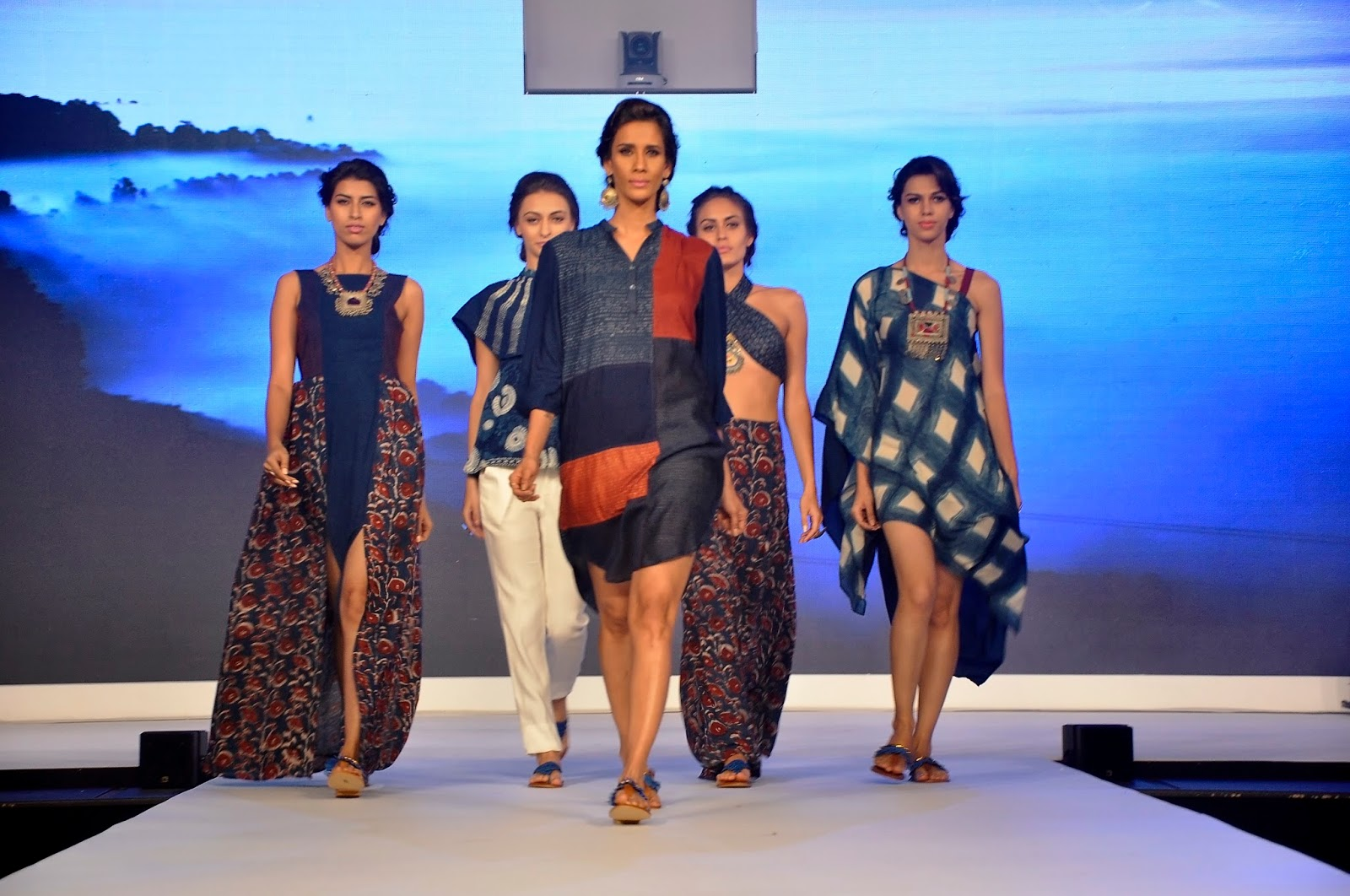 Models walking the ramp at the launch of LIVA2