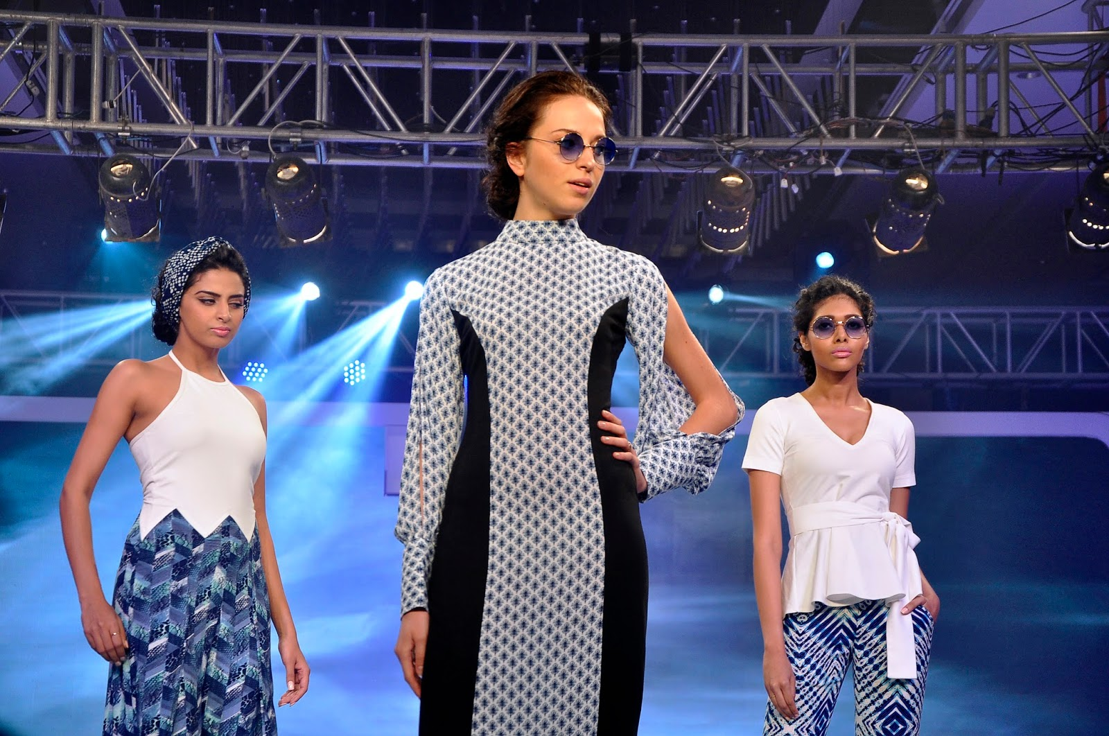 Models walking the ramp at the launch of LIVA3