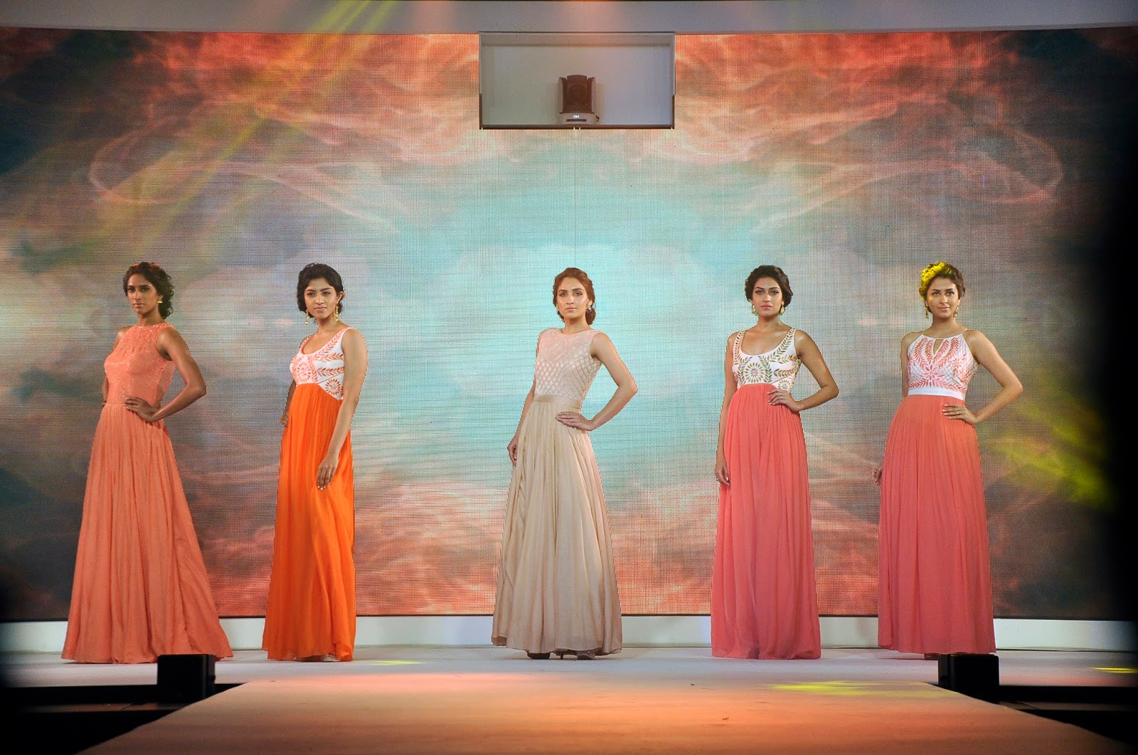 Models walking the ramp at the launch of LIVA4