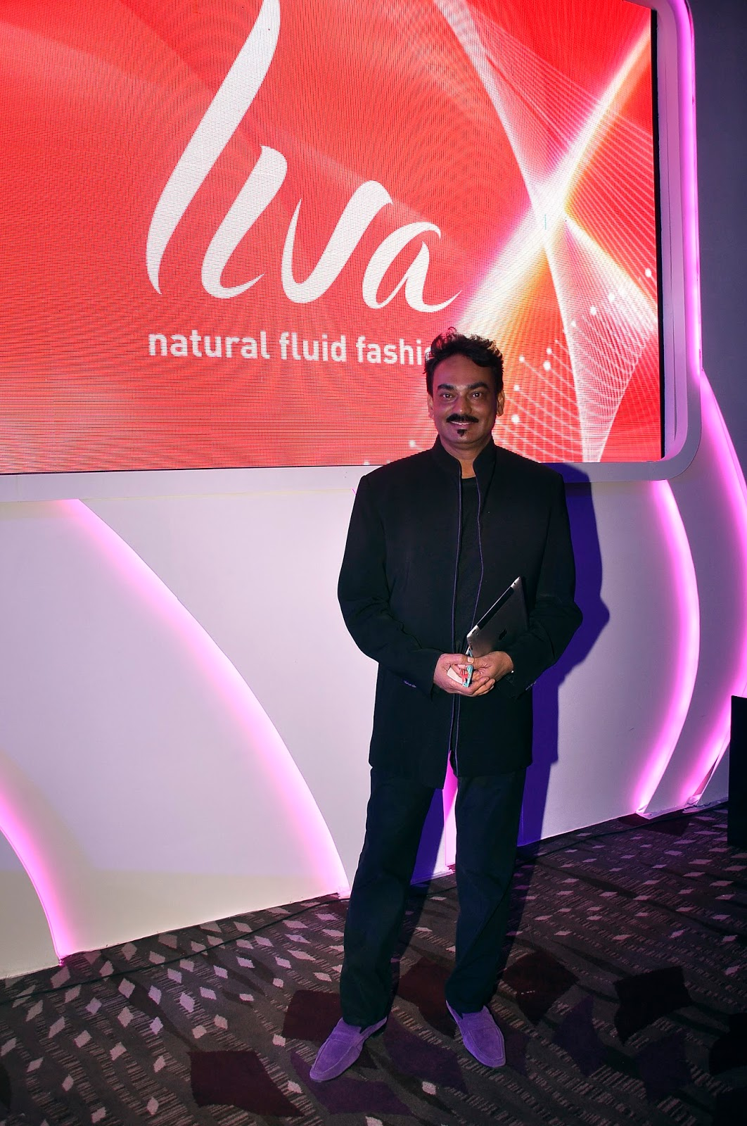 Renowned fashion-designer, Wendell Rodricks, at the launch of LIVA