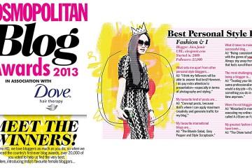 Cosmopolitan India Blog Award August 2013 FINAL