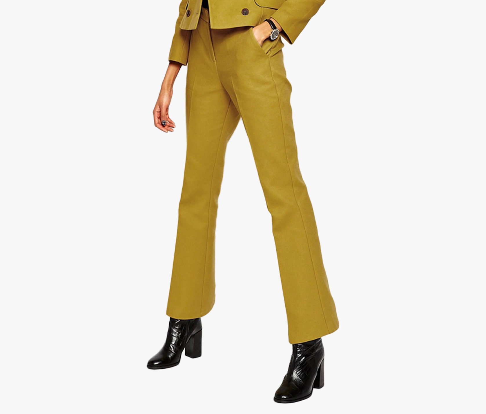 Liebemode-Olive-Solid-Coloured-Pant