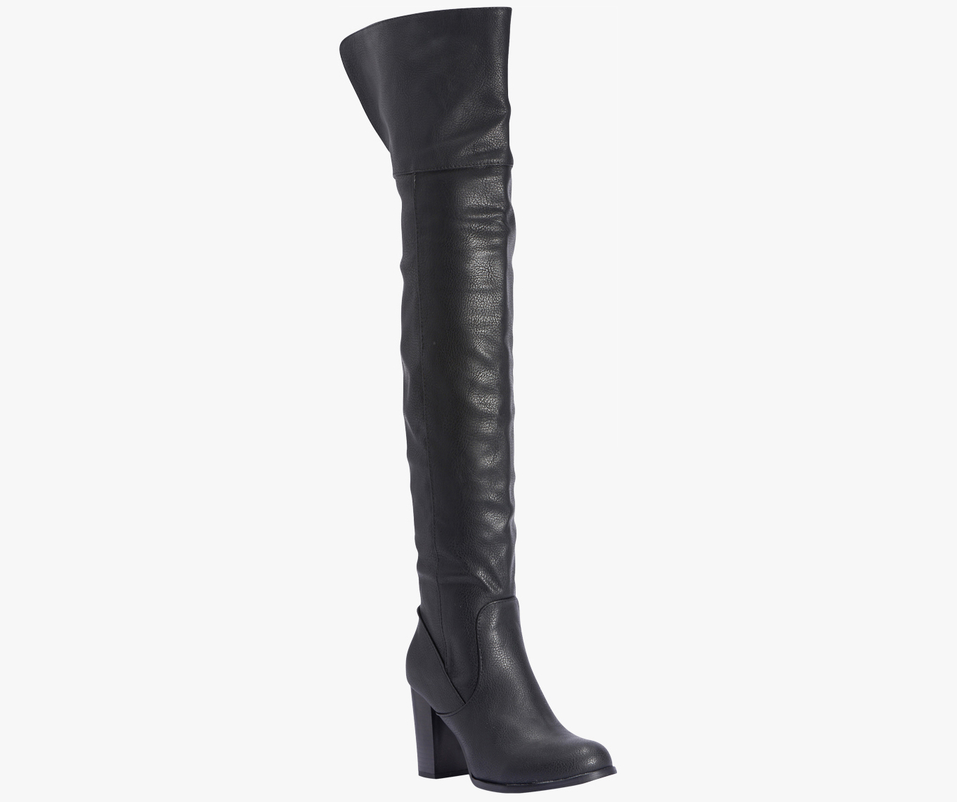 Truffle-Collection-Knee-Length-Black-Boots