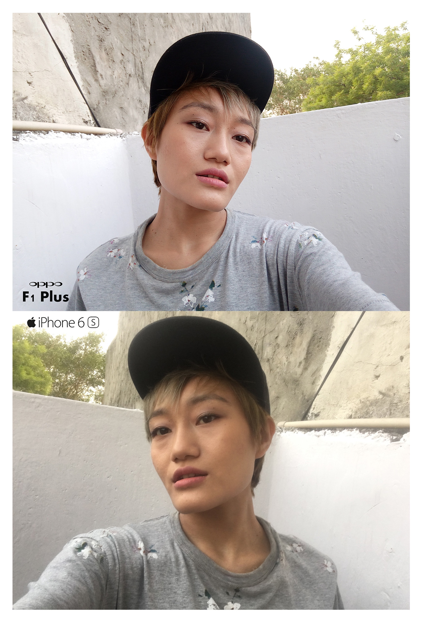 OPPO F1 Plus Vs iPhone 6s-Front-Camera-Day-Light
