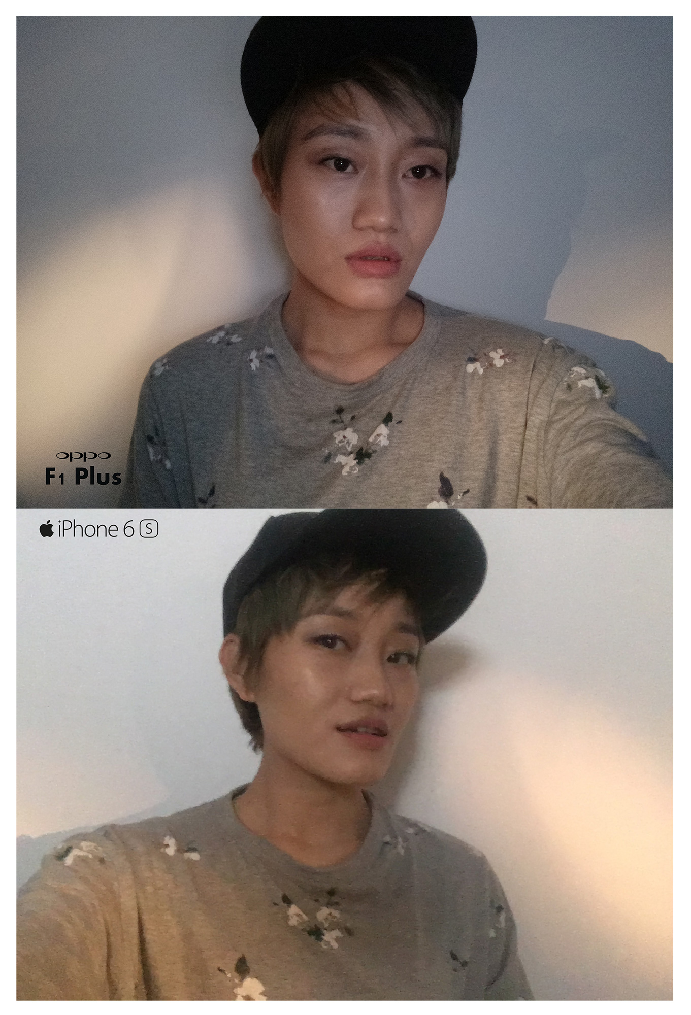 OPPO F1 Plus Vs iPhone 6s-Front-Camera-Low-Light