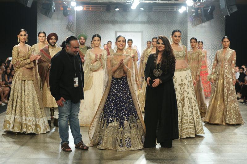 Designer Rimple & Harpreet Narula with Actress Yami Gautam @ FDCI India Couture Week 2016